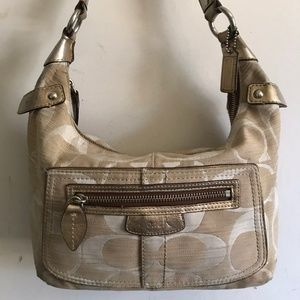 COACH Medium Interwoven Jacquard Bag - Tan